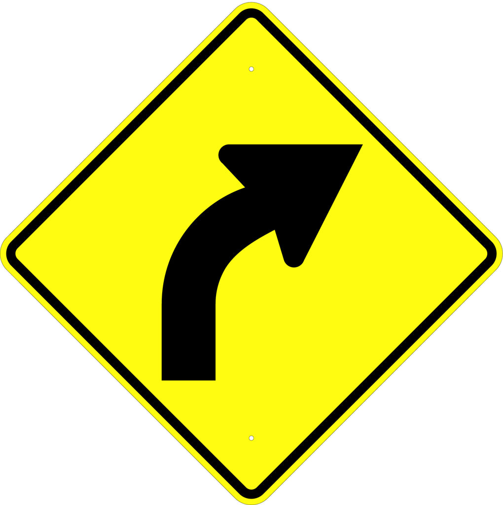 Curve Right Symbol Sign - U.S. Signs and Safety