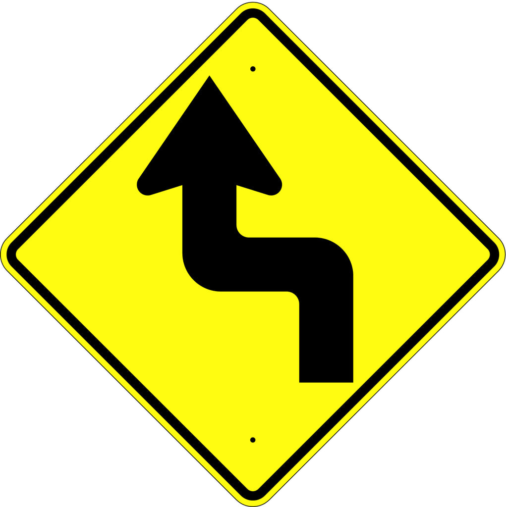 Reverse Turn Left Symbol Sign - U.S. Signs and Safety