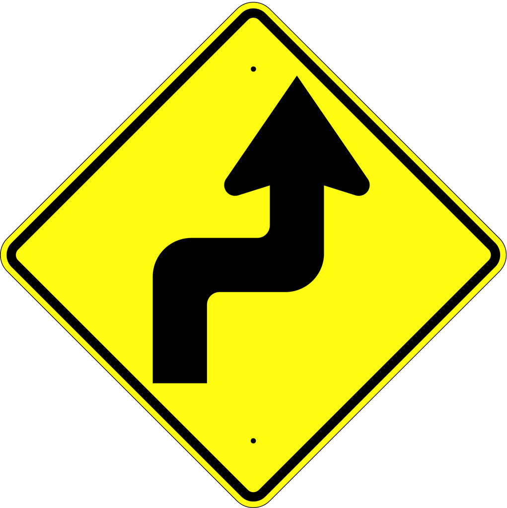 Reverse Turn Right Symbol Sign - U.S. Signs and Safety