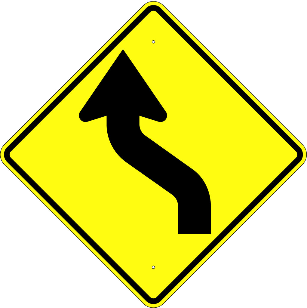 Reverse Curve Left Symbol Sign - U.S. Signs and Safety