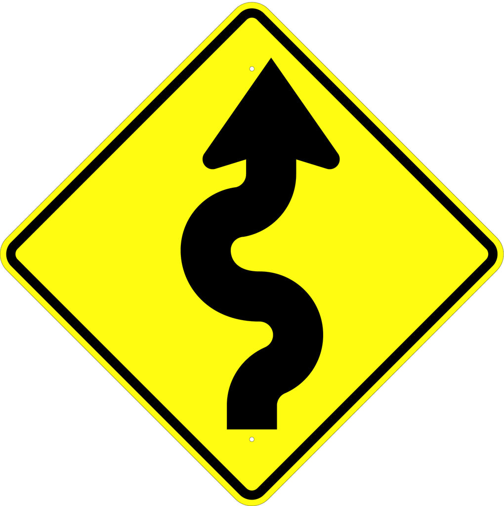 Winding Road Right Symbol Sign - U.S. Signs and Safety