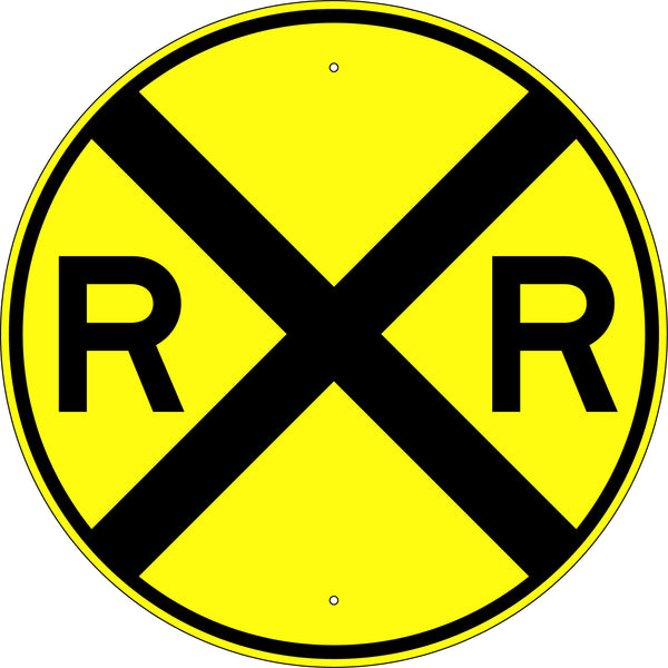 Railroad Advance Warning Symbol Sign - U.S. Signs and Safety
