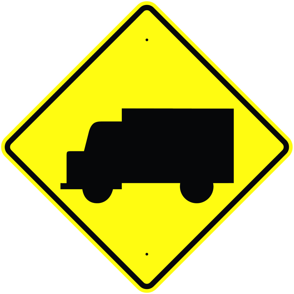 Truck Crossing Symbol Sign  MUTCD W11-10S - U.S. Signs and Safety