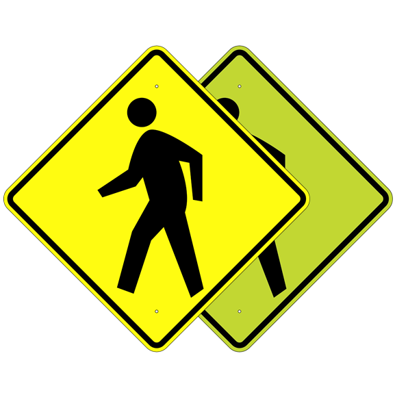 Pedestrian Advance Symbol Sign - U.S. Signs and Safety - 1
