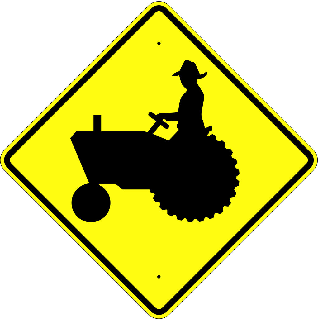 Farm Machinery Symbol Sign - U.S. Signs and Safety