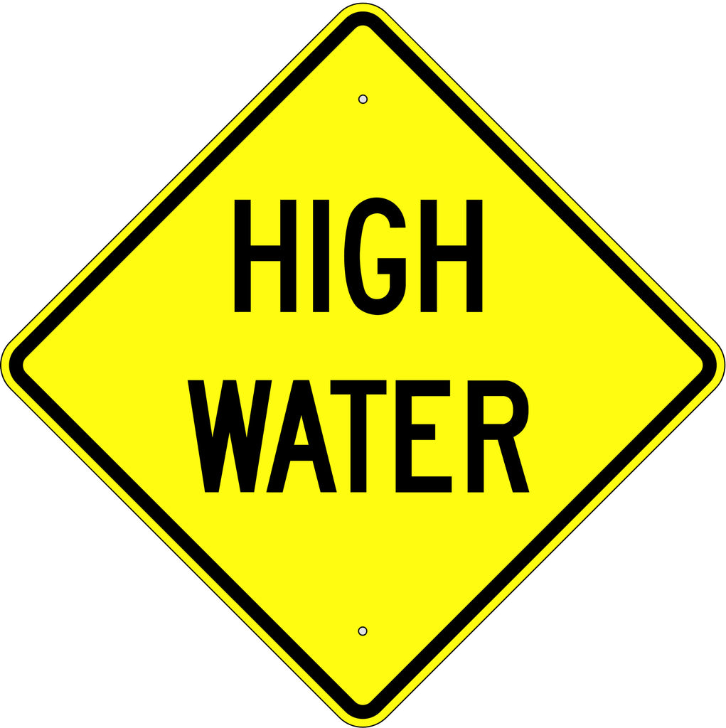 High Water Sign - U.S. Signs and Safety