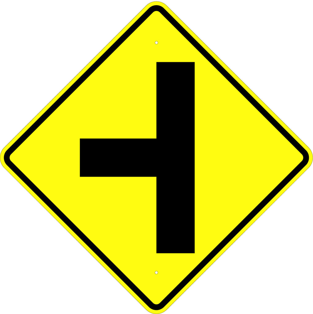 Side Road Symbol Sign - U.S. Signs and Safety