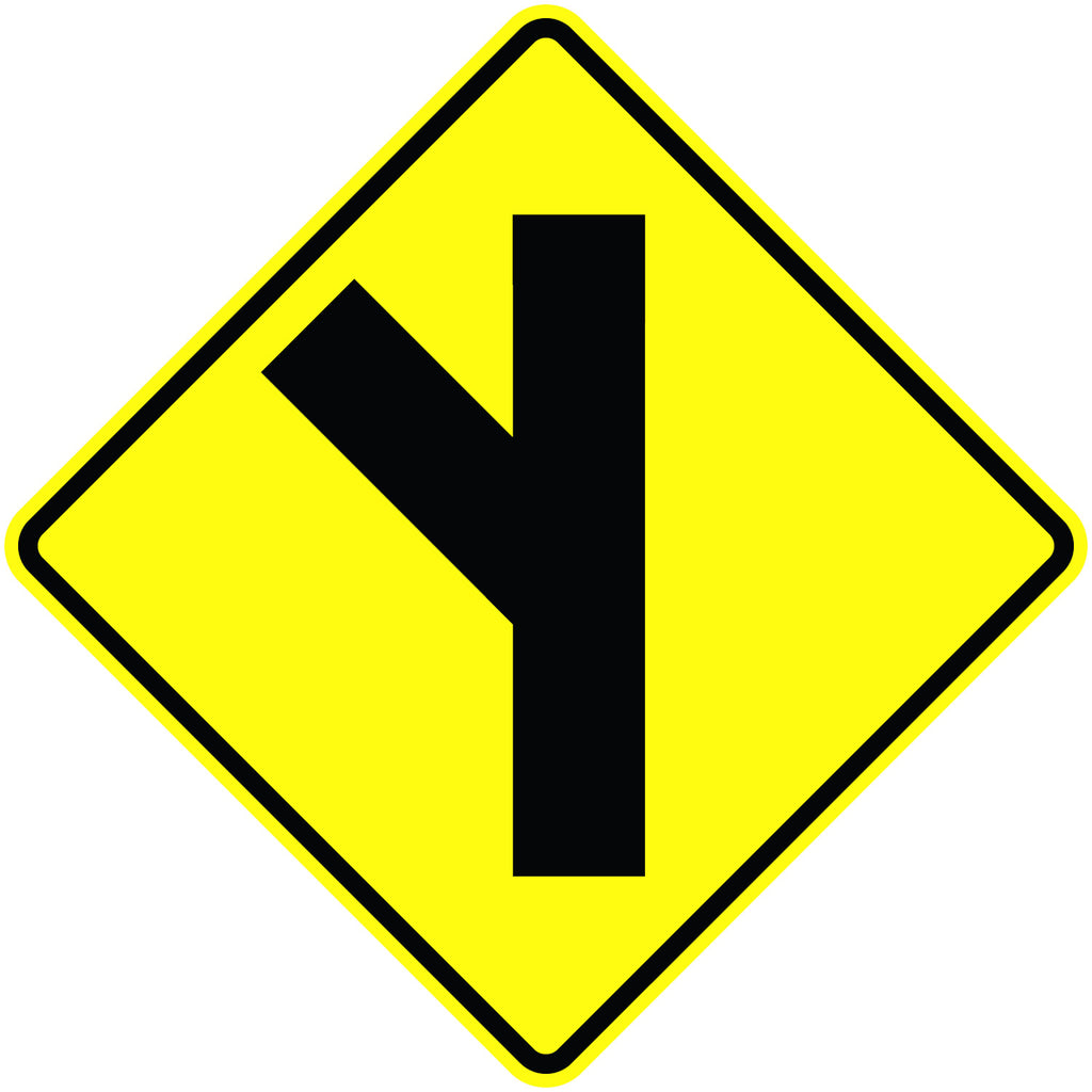Side Road Oblique Sign - U.S. Signs and Safety - 1