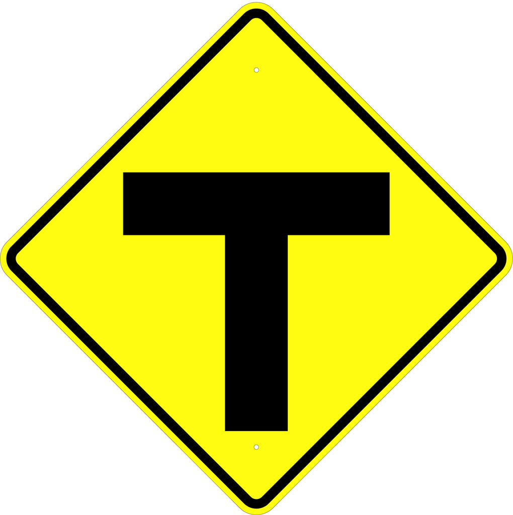 T Intersection Symbol Sign - U.S. Signs and Safety