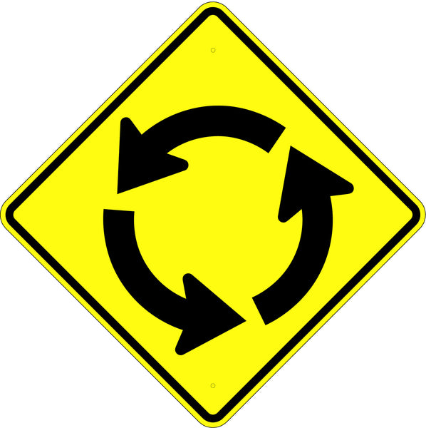 Circular Intersection Sign MUTCD W26 - U.S. Signs and Safety
