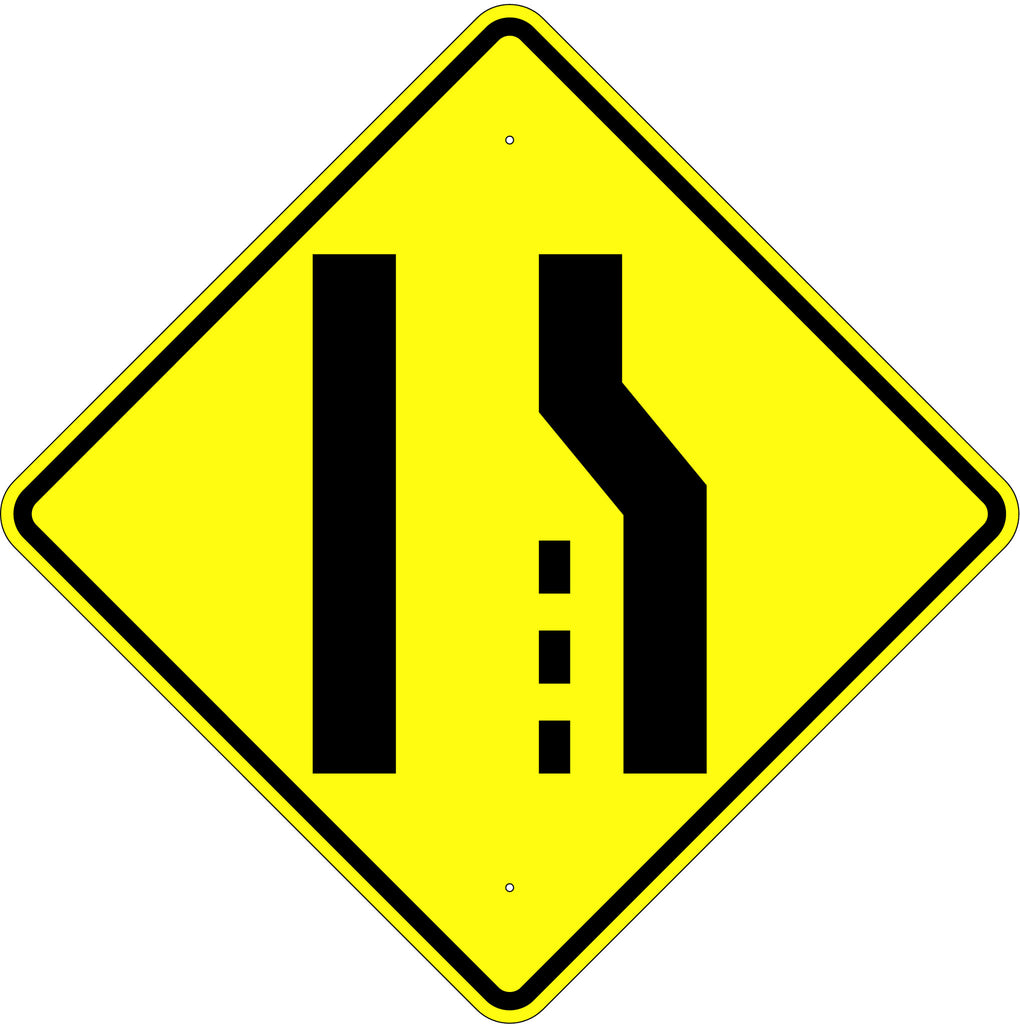 Pavement Width Transition Symbol Sign - U.S. Signs and Safety - 1