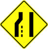 Pavement Width Transition Symbol Sign - U.S. Signs and Safety - 2