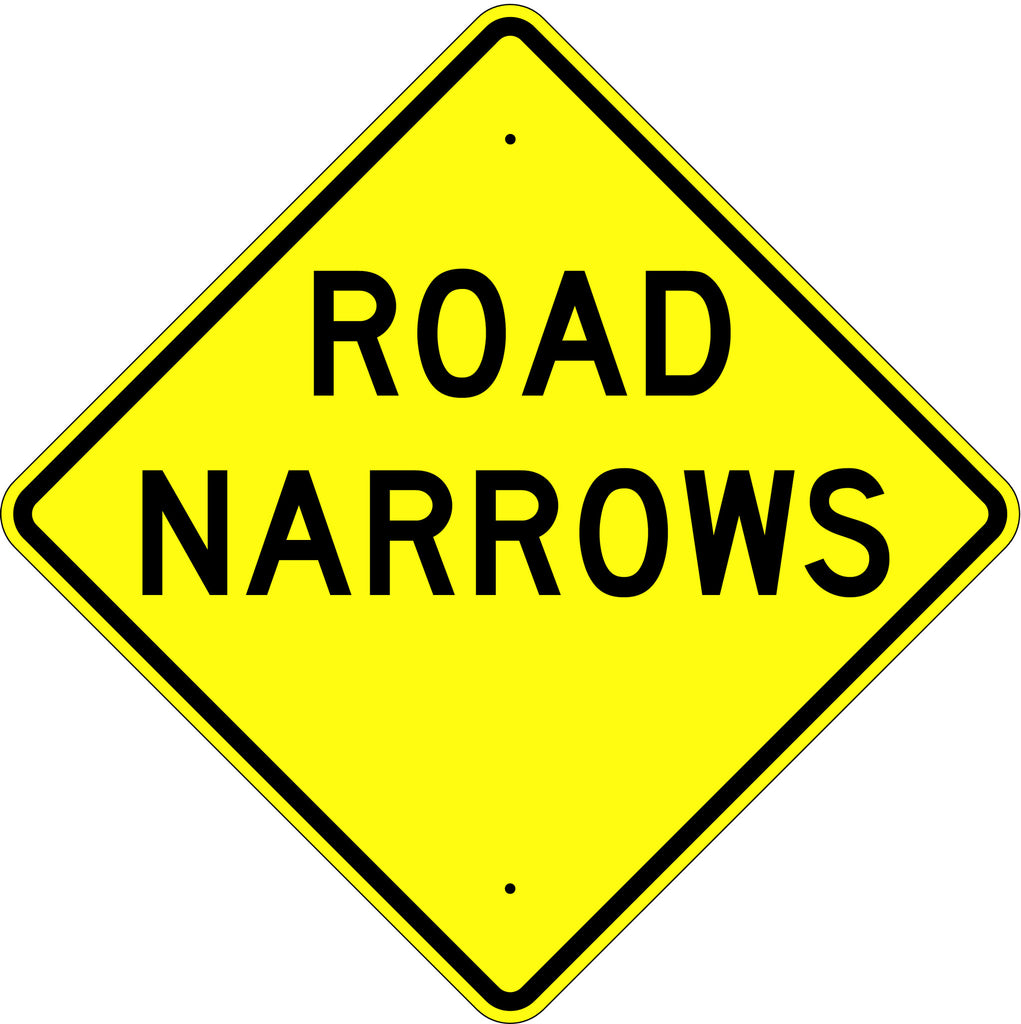 Road Narrows Sign - U.S. Signs and Safety