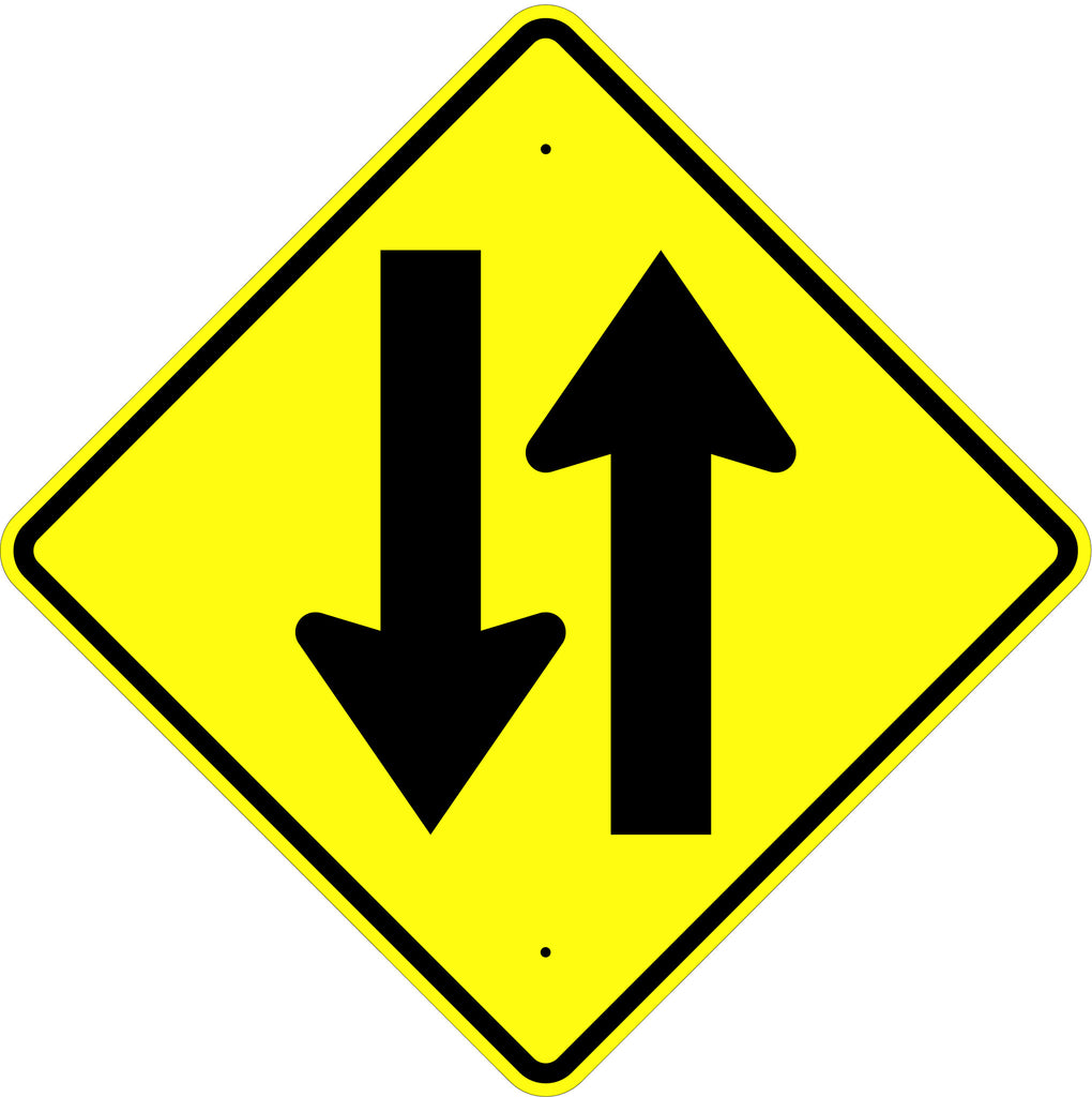 Two Way Traffic Symbol Sign - U.S. Signs and Safety