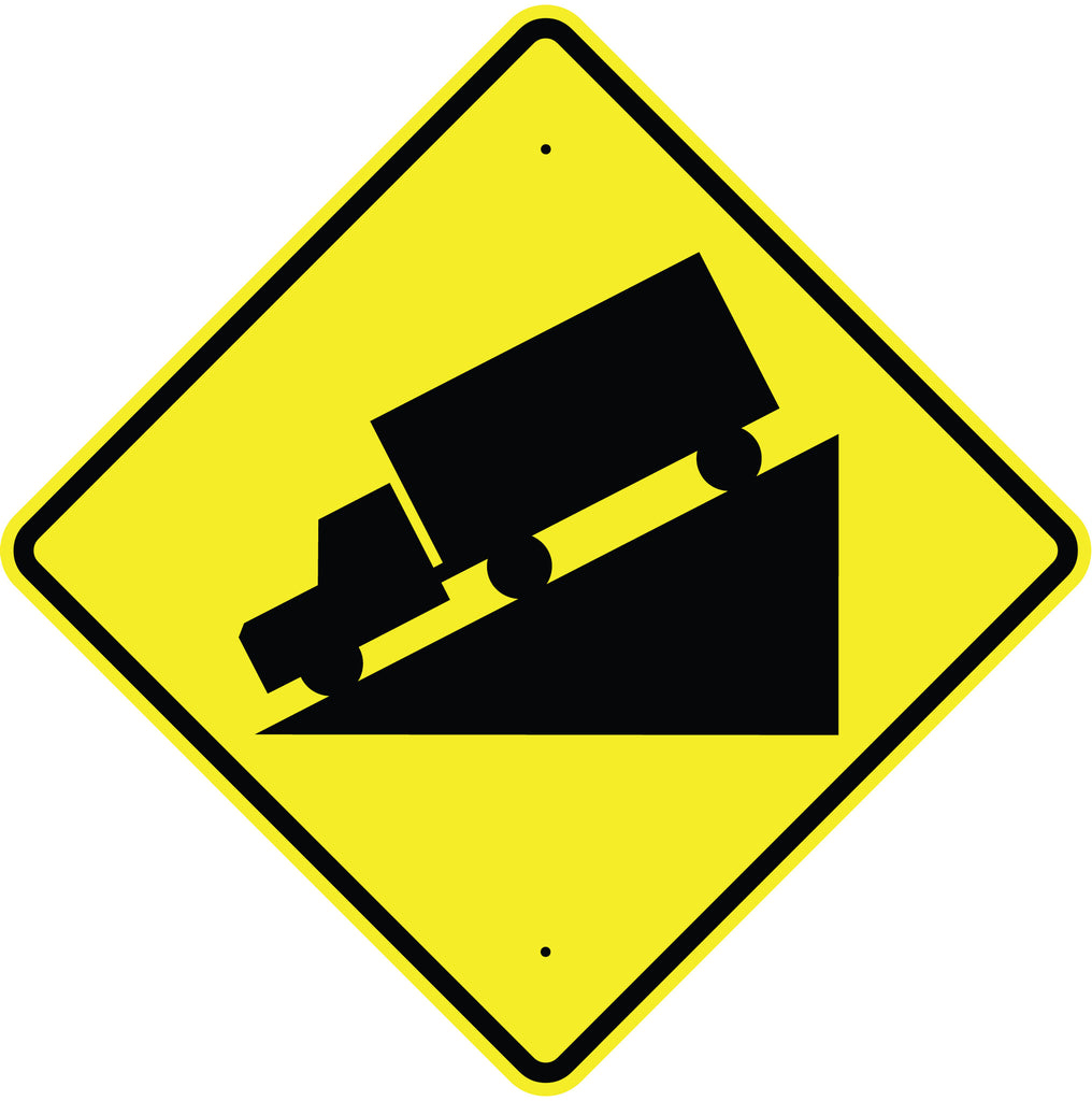 Hill Symbol Sign - U.S. Signs and Safety