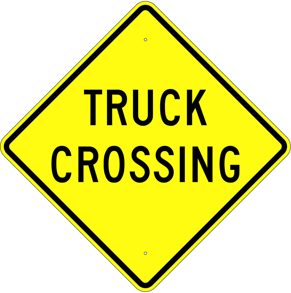 Truck Crossing Sign MUTCD W8-6 - U.S. Signs and Safety