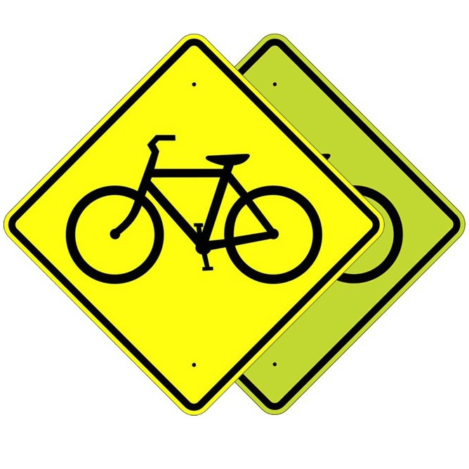 Bicycle Crossing Symbol Sign - U.S. Signs and Safety - 1