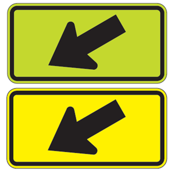 Left Diagonal Arrow Sign - U.S. Signs and Safety - 1