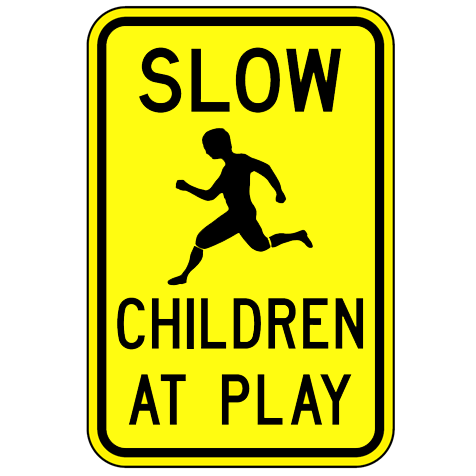 Slow Children At Play Sign - U.S. Signs and Safety