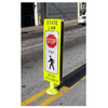 YIELD TO (OR STOP FOR) PEDESTRIAN WITHIN CROSSWALK REBOUNDABLE SIGN - U.S. Signs and Safety - 4