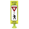 YIELD TO (OR STOP FOR) PEDESTRIAN WITHIN CROSSWALK REBOUNDABLE SIGN - U.S. Signs and Safety - 3