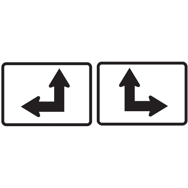 Double Arrow Horizontal/Straight Route Marker Sign - U.S. Signs and Safety - 1