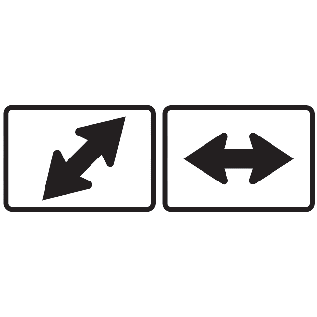 Double Arrow Route Marker Sign - U.S. Signs and Safety - 1