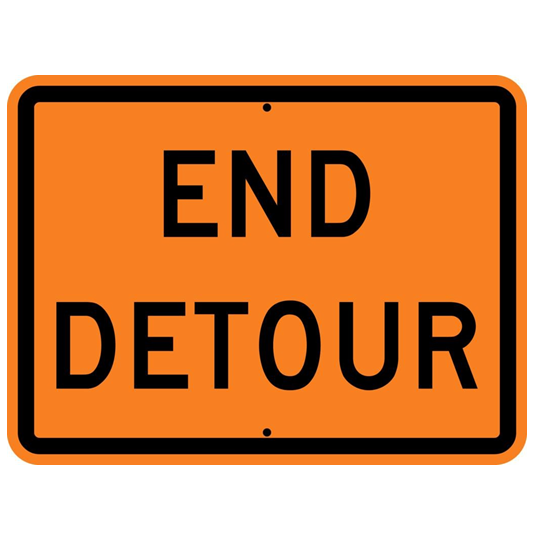 End Detour Sign - U.S. Signs and Safety