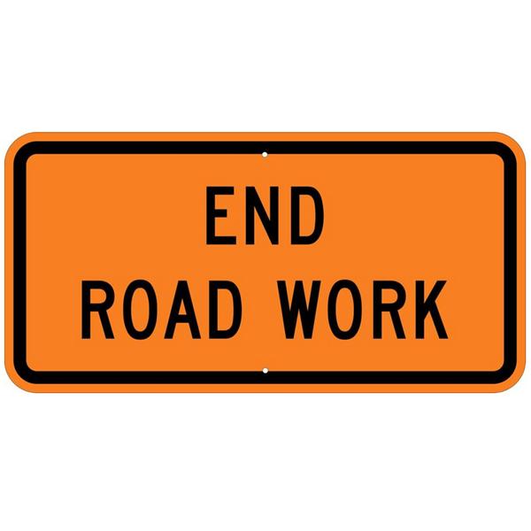 End Road Work Sign - U.S. Signs and Safety