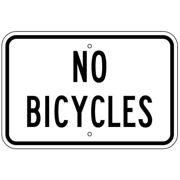 No Bicycles Sign - U.S. Signs and Safety
