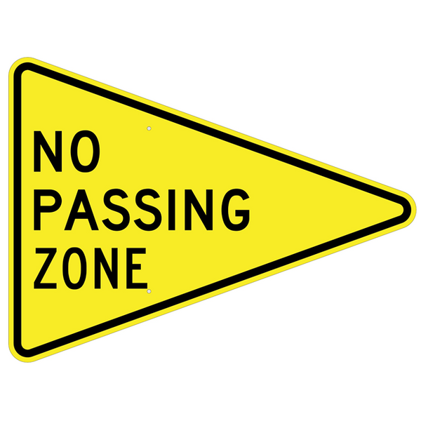 No Passing Zone Sign U S Signs And Safety