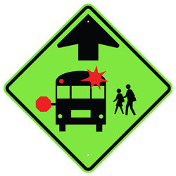 School Bus Stop Ahead Sign - U.S. Signs and Safety