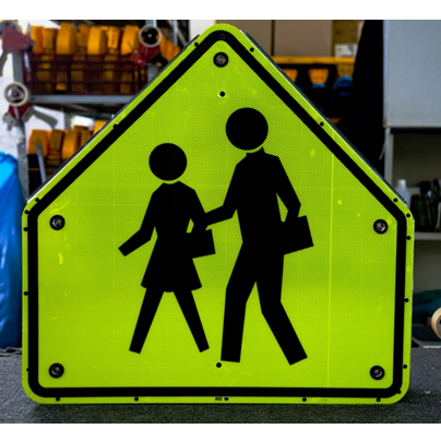 School Crossing - Solar Flashing LED School Crossing Sign - U.S. Signs and Safety