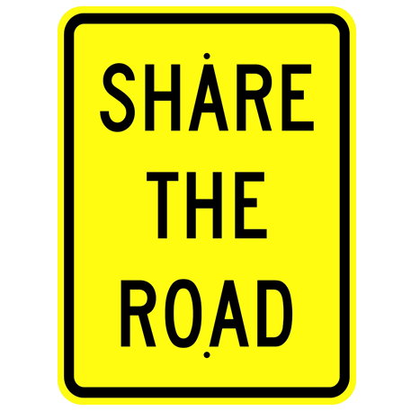 Share The Road Sign - U.S. Signs and Safety