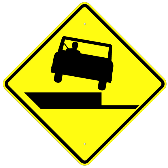 Shoulder Drop Off Sign  MUTCD W8-9A - U.S. Signs and Safety
