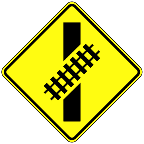 Skewed Crossing Sign - U.S. Signs and Safety