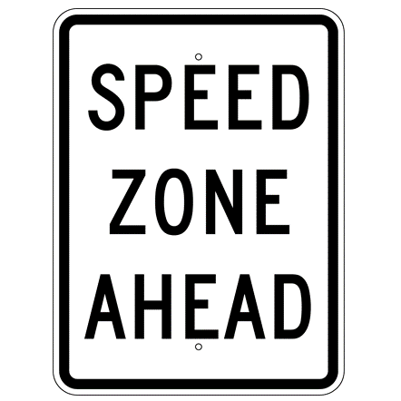 Speed  Zone Ahead Sign - U.S. Signs and Safety