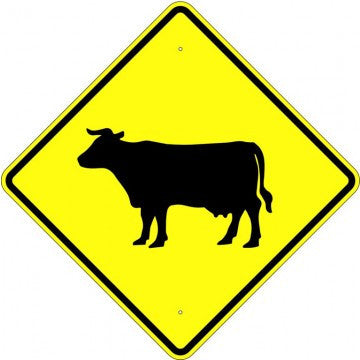 Cattle Crossing Symbol Sign - U.S. Signs and Safety