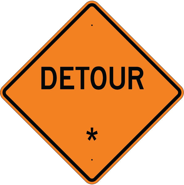 Detour * Roll Up Sign  MUTCD W202 - U.S. Signs and Safety - 1
