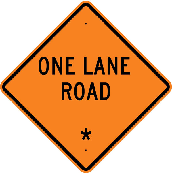 One Lane Road * Roll Up Sign  MUTCD W204 - U.S. Signs and Safety - 1