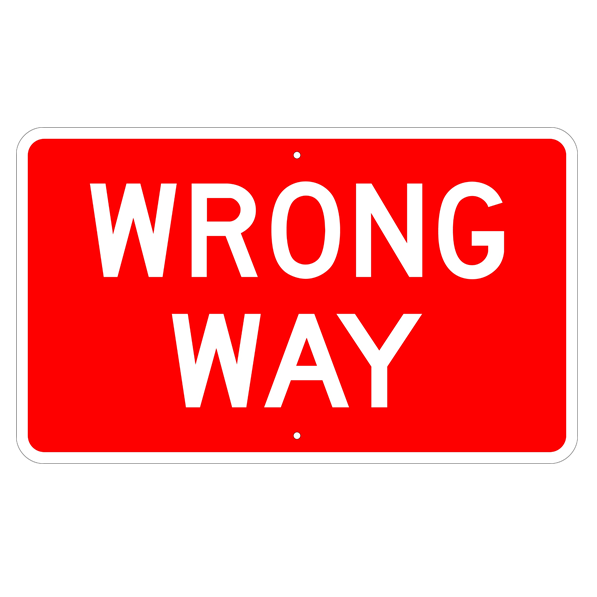 Wrong Way Sign - U.S. Signs and Safety