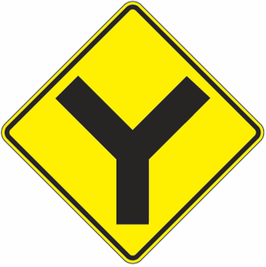 Y Intersection Symbol Sign - U.S. Signs and Safety