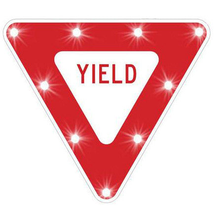 Yield - Solar Flashing LED Yield Sign - U.S. Signs and Safety