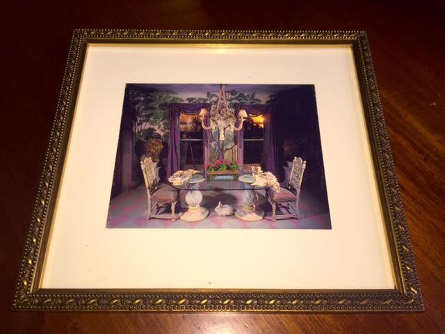 Framed Postcard - Pedestal Table