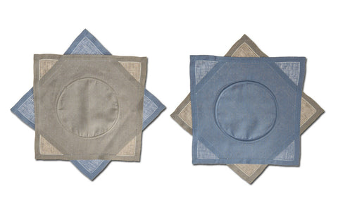 Placemats Flip Flops Pewter Blue