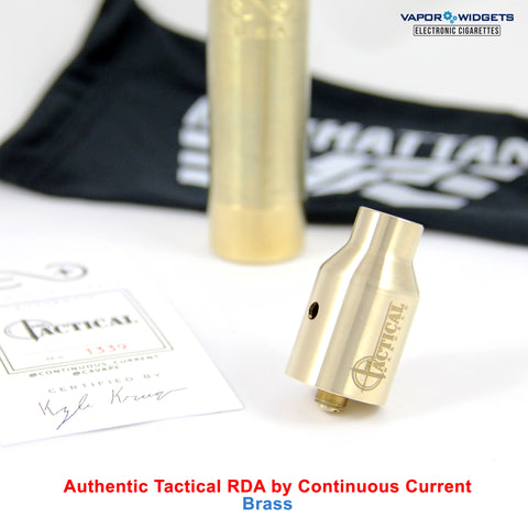 Authentic Tactical Warhead Dripping Atty RDA Brass by Continuous Current | Vapor Widgets