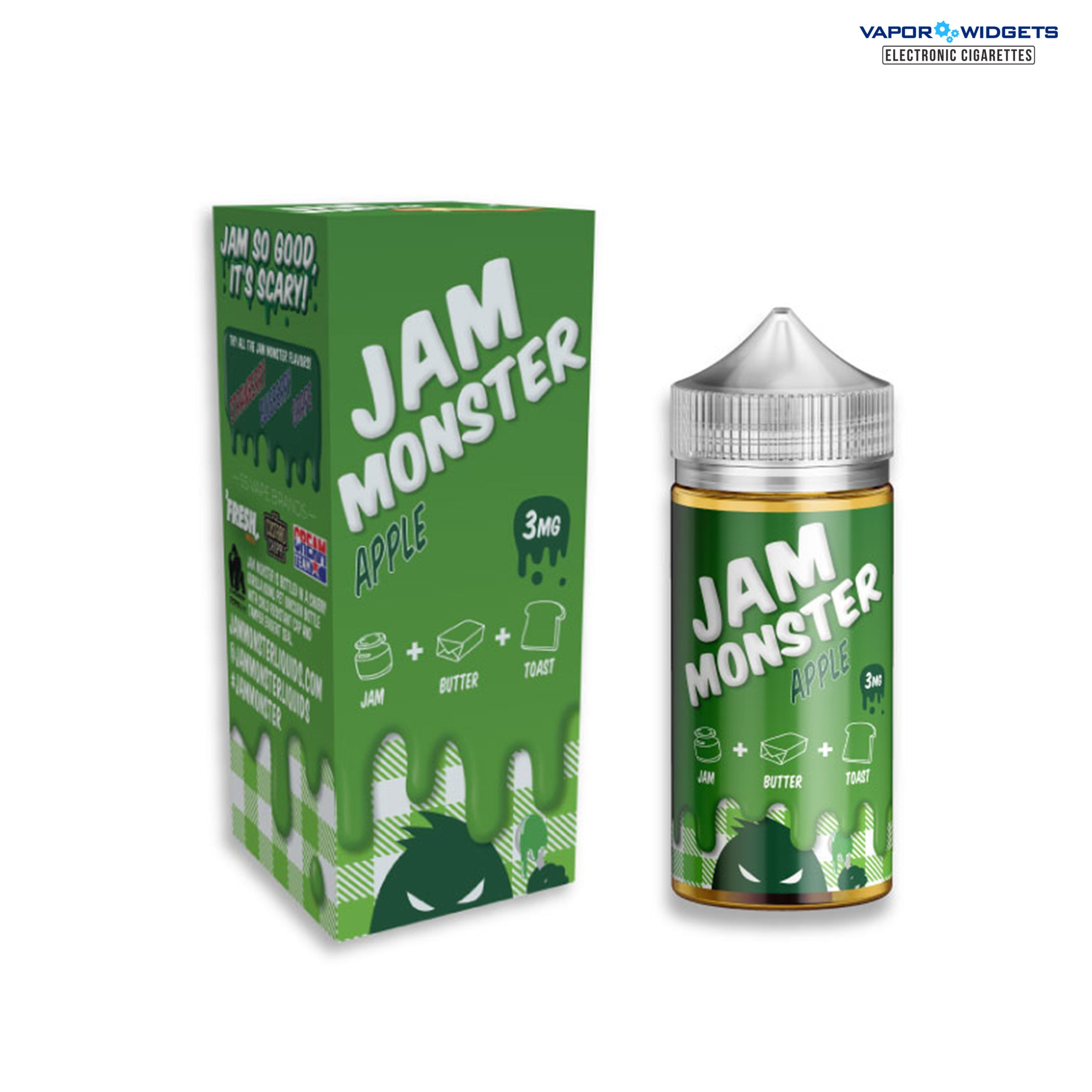 Jam Monster Apple High VG E-Liquid | Vapor Widgets