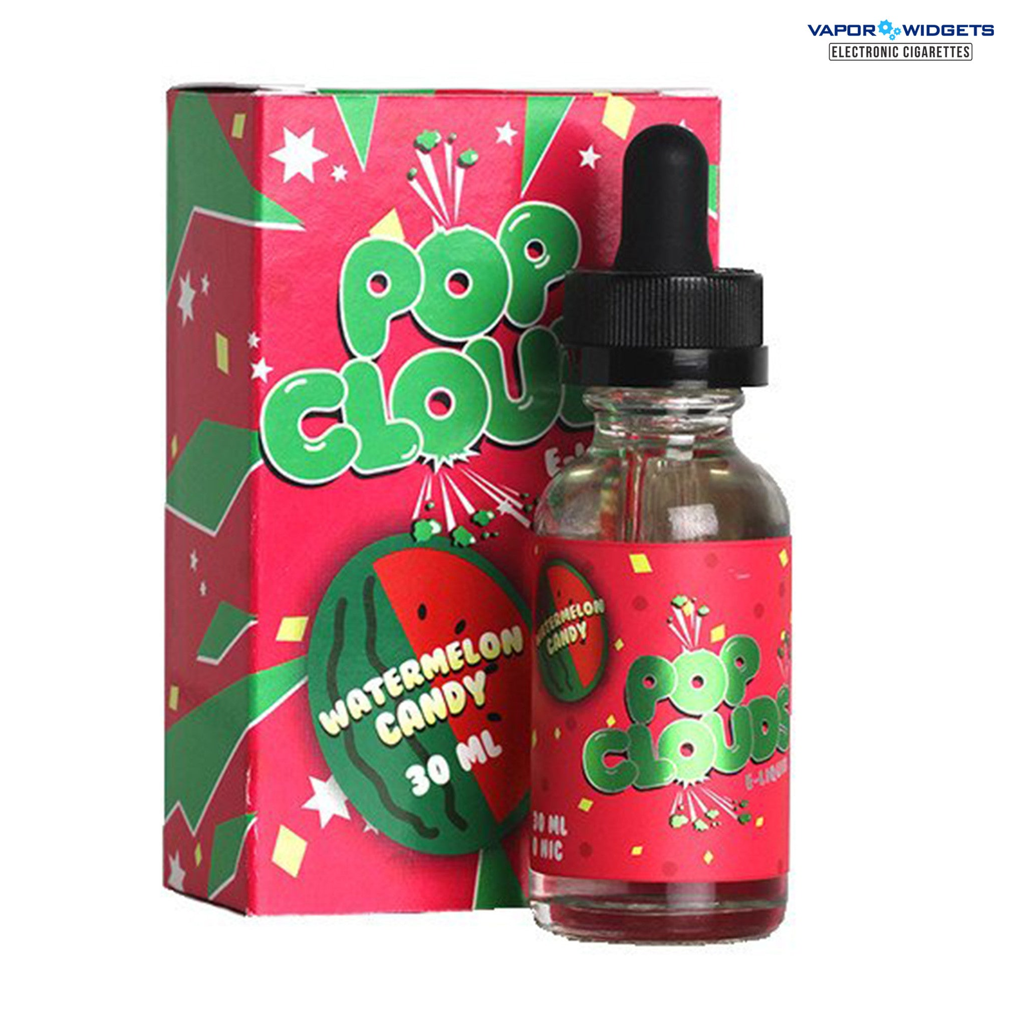 Pop Clouds Watermelon Candy High VG Vape juice | Vapor Widgets