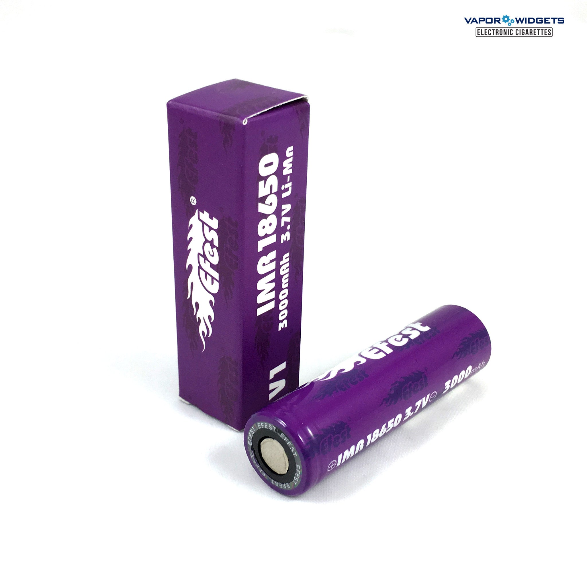 Best quality Purple Efest IMR 18650 high drain vape MOD Batteries 3.7V, 3000mAh, 35A - Vapor Widgets