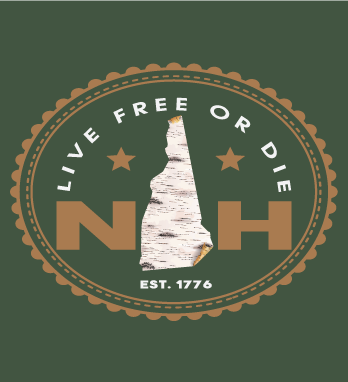 Live Free Or Die Birch tee